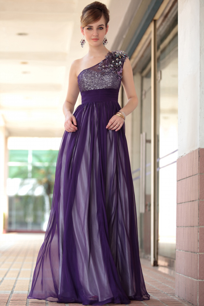 Ball Dresses: Purple Evening Dresses For Women