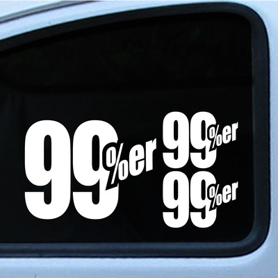 99 percenter er kit 3 die cut vinyl decal logo sticker supporter 1 7