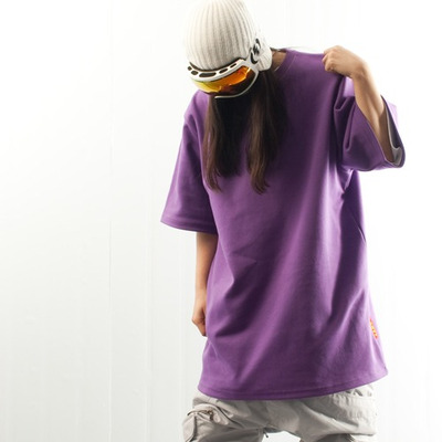 Ehoto ski & snowboard plain tall tee - purple