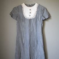 Vintage 50's Striped Bib Dress