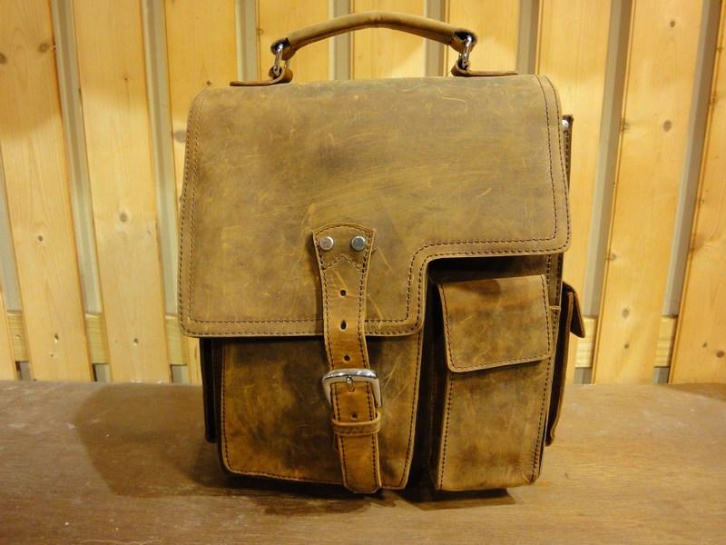 Western Leather Messenger Bag - Full Grain · Old School Leather Bags ... b498513c78
