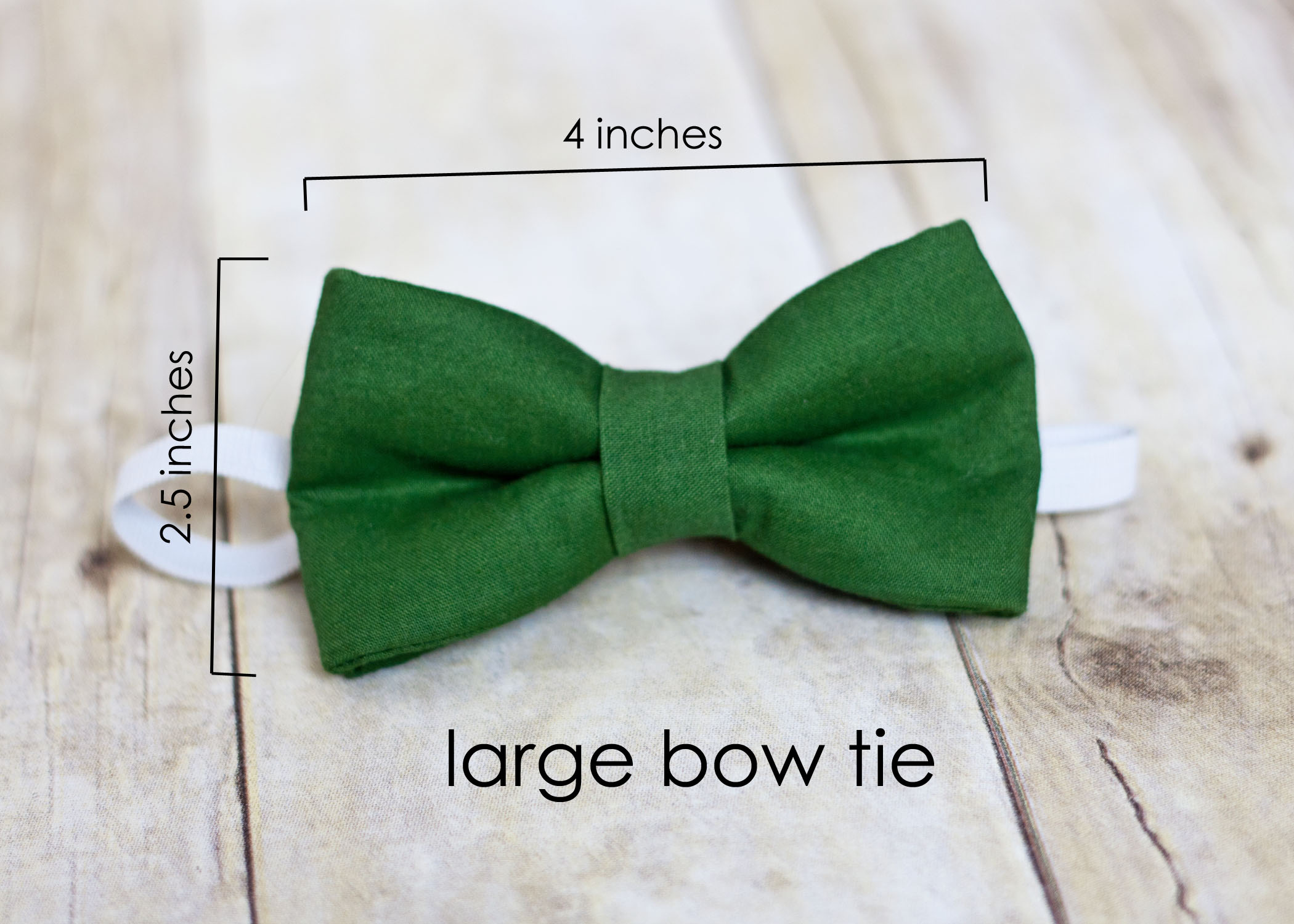 boy bow tie with elastic solid green bow tie baby