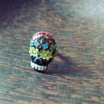 Mex Skull Ring (Adjustable)