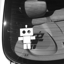 Robot Royalty Decal Stickers: 3 x 4 - Large