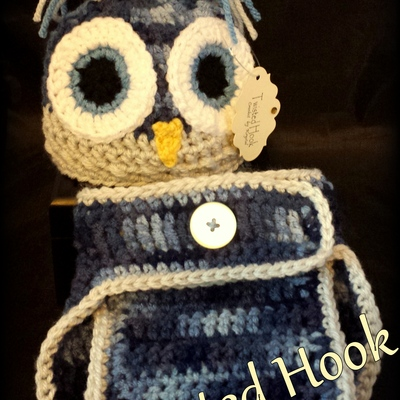 Baby blue owl set