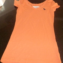 Orange Shirt-Abercrombie Size Small