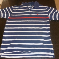 Navy/White/Red Ralph Lauren Polo Shirt Size 12/14