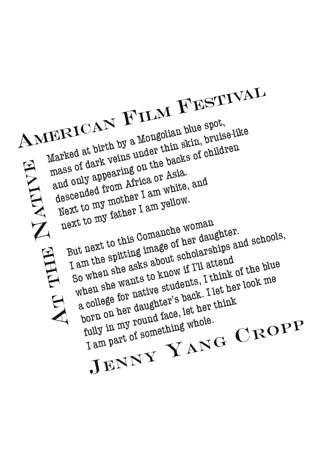 Architrave Press At The Native American Film Festival By Jenny Yang Cropp Online Store