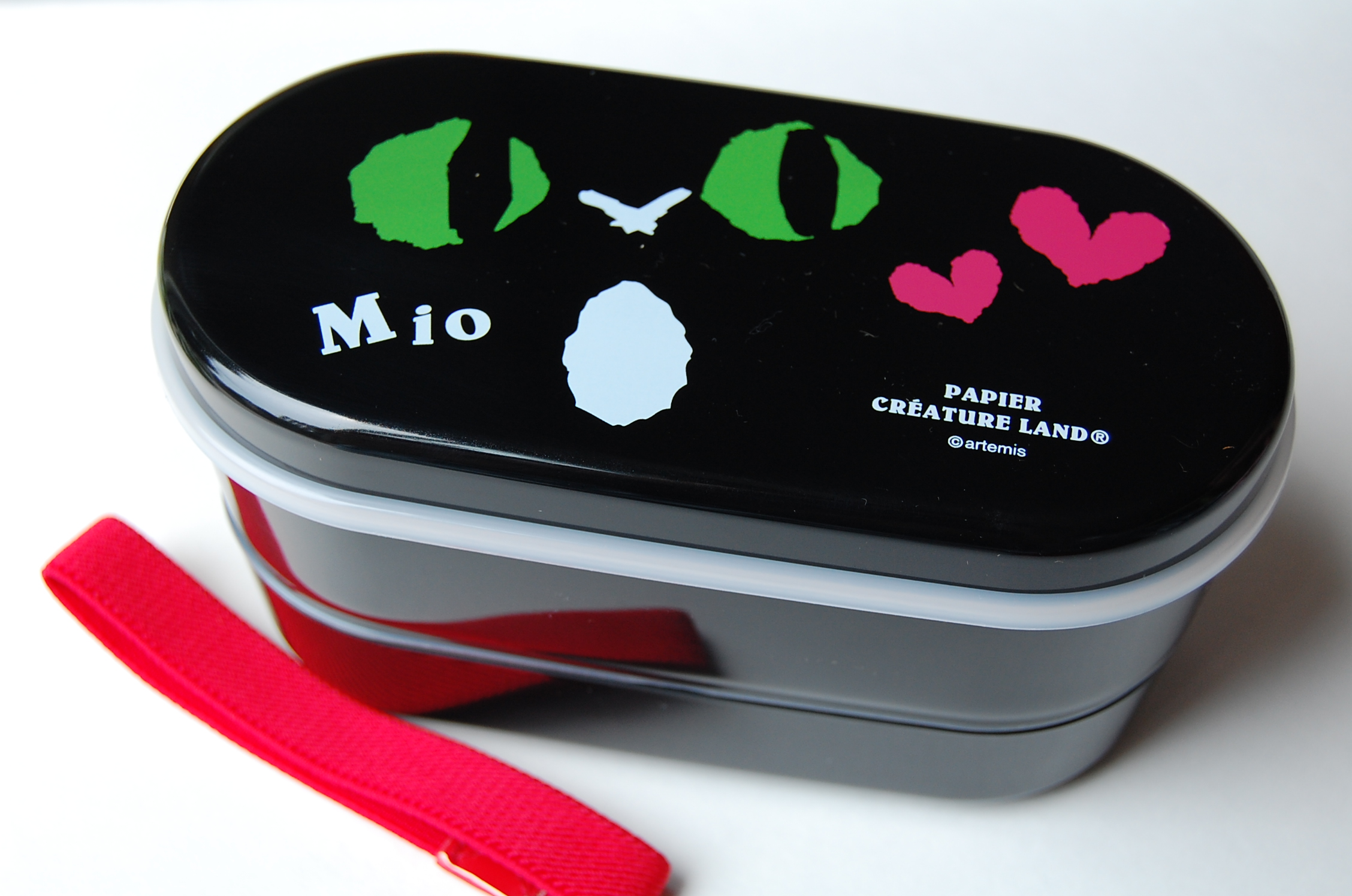 japanese 2 level bento lunch box papier mio in black free shipping thelittlebow online. Black Bedroom Furniture Sets. Home Design Ideas