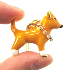 Limited Edition Puppy Dog Shaped Animal Pendant Necklace