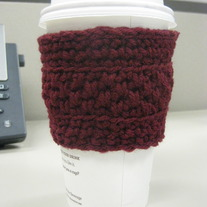 Plain Maroon Coffee Cup Cozy
