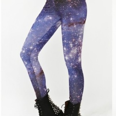 Subdued starry cosmic tights