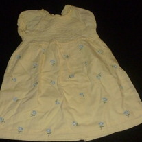 Yellow Dress with Blue Flowers-Baby Gap Size 18-24 Months