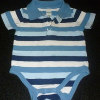 Blue Striped Onesie-Circo Size 6 Months