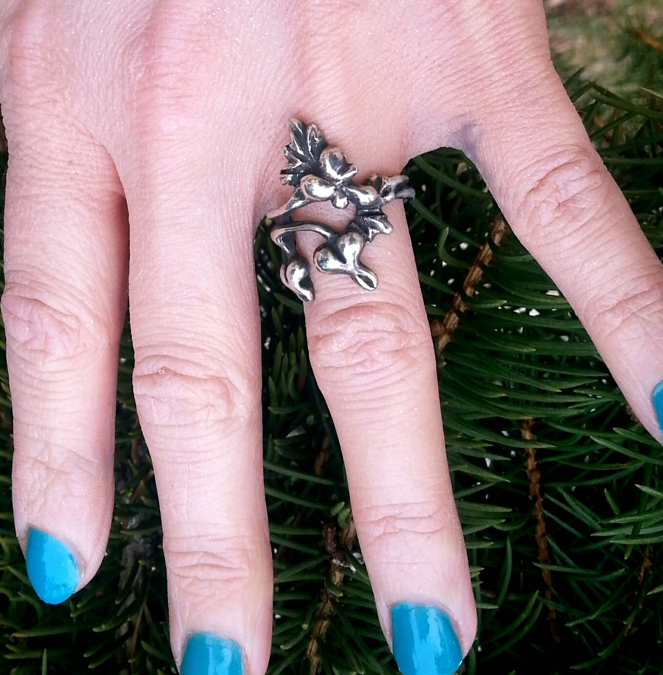 Raven Eve Gothic Jewelry | Art Nouveau Bleeding Hearts Ring in Solid ...