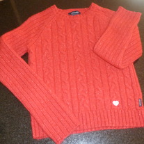 Red Sweater-Abercrombie Size XL