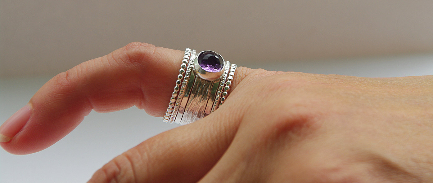 unique rose cut purple amethyst wedding ring - Amethyst Wedding Ring