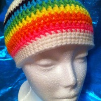 Rainbow Beanie - DESTASH SALE - Thumbnail 2