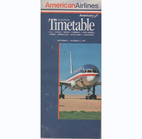 gate 72 american airlines system timetable sept 3 1997 online store powered by storenvy. Black Bedroom Furniture Sets. Home Design Ideas