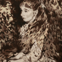 Irène Cahen d'Anvers, after Renoir (sepia variant)
