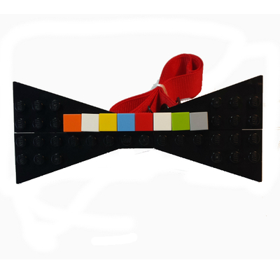 Personalized lego® bow tie  black/multi
