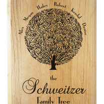 Personalized Family Tree Wood Plaque