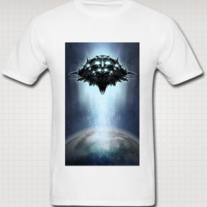 """ORBITAL STATION"" T Shirt for Men (White)"