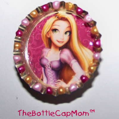 Tangled bottle cap magnets