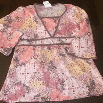 Pink/Brown Top-Lily Bleu Size 6