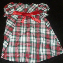 Red/Green Plaid Holiday Dress-Ashley Ann Size 18 Months
