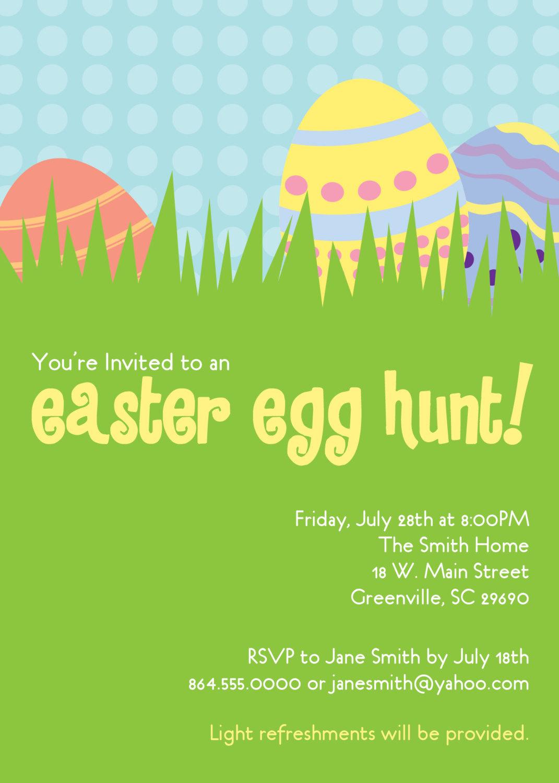 Easter egg hunt invitations party dinner birthday get together easter egg hunt invitations party dinner birthday get together pastels stopboris Gallery