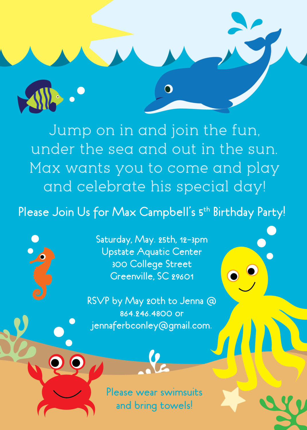 Under The Sea Invitations with nice invitations ideas