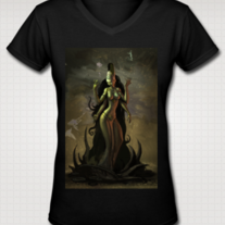 """LAKSHMI"" T Shirt for Women (Black)"
