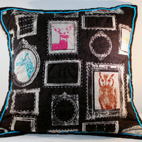 Hand-quilted Frames Pillow Cover