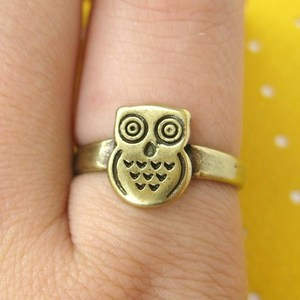ONE DOLLAR SALE - Owl Animal Ring in Sizes 4.5 to 6.5