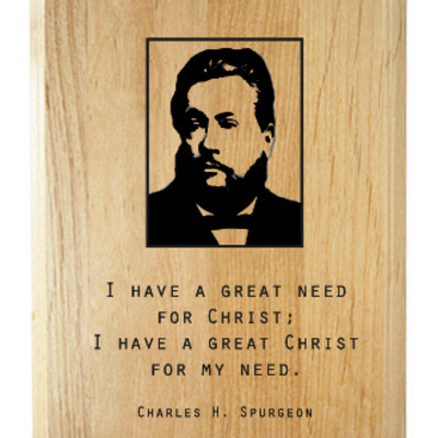 Spurgeon quote plaque