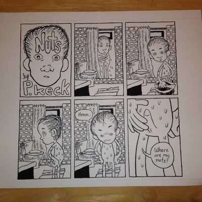 Nuts original comic art
