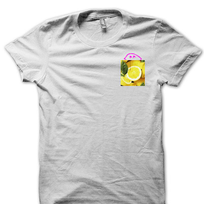 "Peek a boo ""pink lemonade"" pocket tee"