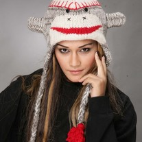 Red Sock Monkey Hat