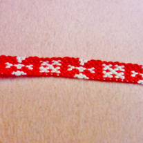 Red Snowflakes Braided Friendship Bracelet