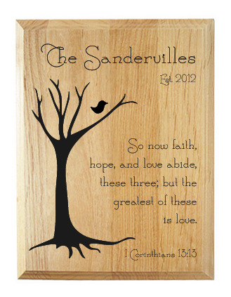 1 corinthians 13 13 family name plaque significat