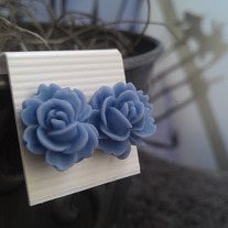 Periwinkle Rose Earrings