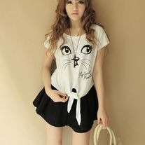 Camiseta Gato / Cat T-Shirt 2WH150