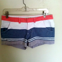 Billabong striped shorts size 5
