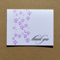murasaki thank you folded notecards