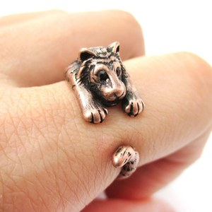Miniature Tiger Shaped Animal Inspired Ring in Copper | US Sizes 4 to 9