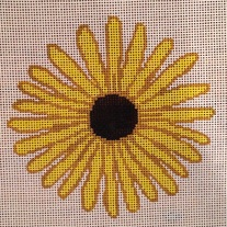 Black Eyed Susan on 18 mesh