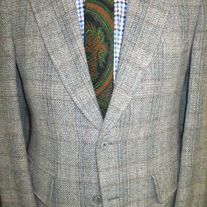 Oxford Ltd. Plaid Tweed Blazer - 40R
