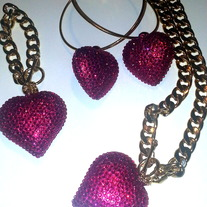Bling Hearts - Various Colors