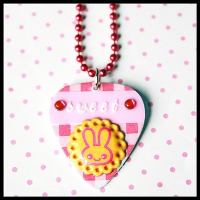 Lick your pick sweet bunny cookie diy necklace charm